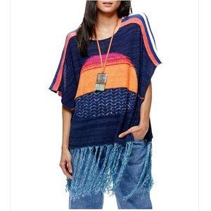 Free People Sunset Fringe Sweater M/L